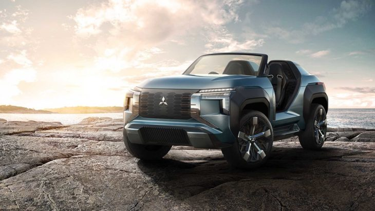 Mitsubishi apresenta novo carro conceito, chamado de MI-Tech.