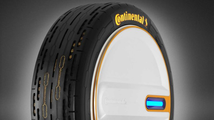 A Continental apresentou um novo conceito de pneus que se calibram sozinhos.