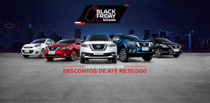A Nissan está oferecendo descontos especiais em vários modelos na semana da Black Friday.