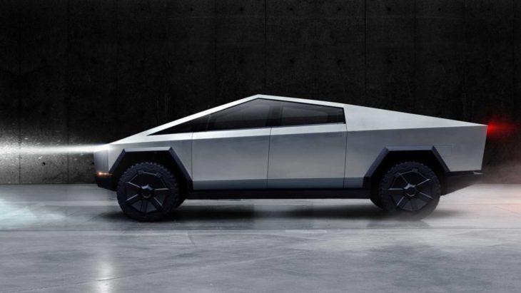 Tesla Cybertruck é uma picape inspirada nos filmes de ficção científica.