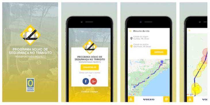 Volvo desenvolver aplicativo que alerta sobre trechos perigosos nas estradas.