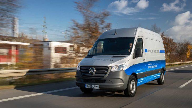 Mercedes lança na Europa uma versão elétrica da Sprinter.