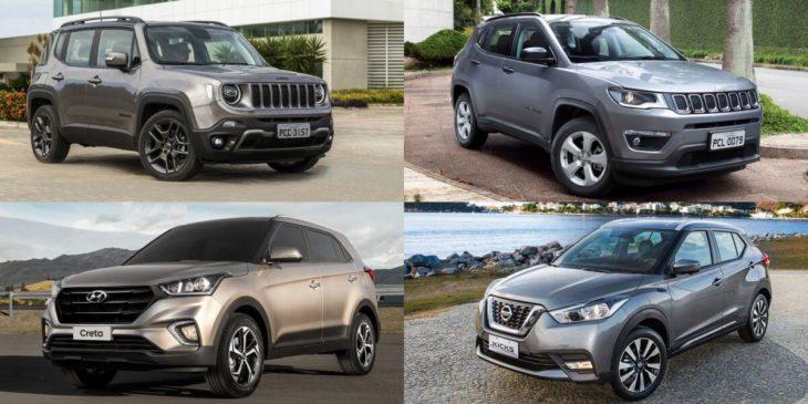 Saiba quais são os SUVs mais populares de 2019.