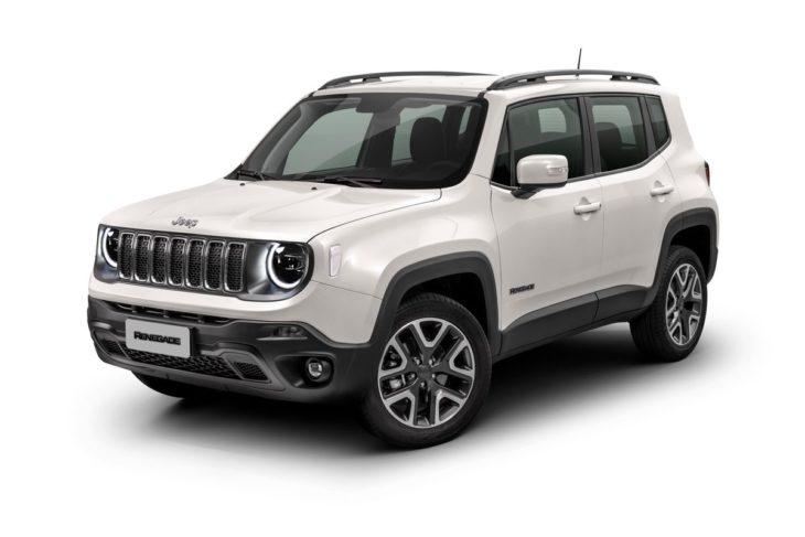 Jeep Renegade branco.