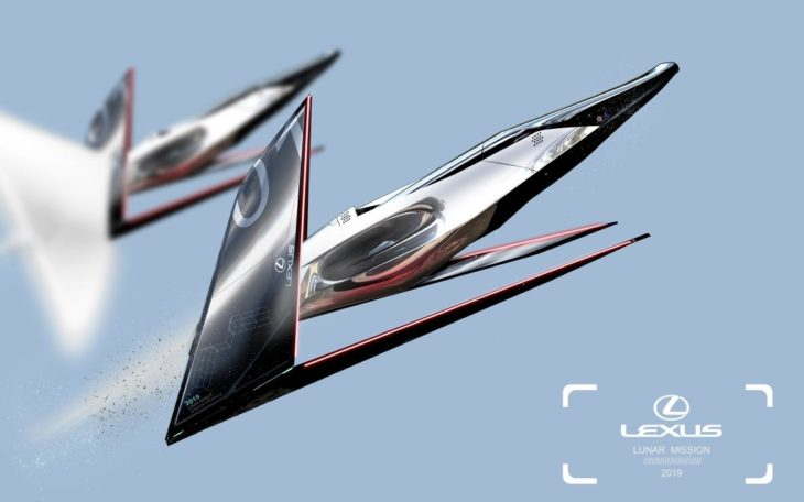Lexus mostra conceitos de veículos espaciais.
