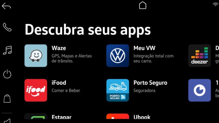 Multimídia do Nivus com Waze e Ifood