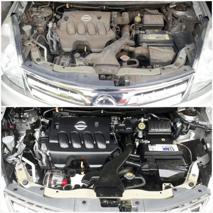Lavar o motor é correto?