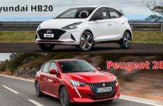 Peugeot 208 e Hyundai HB20