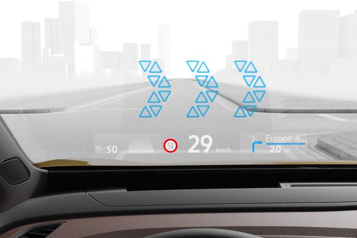 Head-up display da Volkswagen