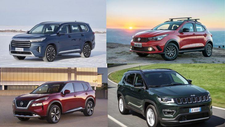 Os SUV's que vão chegar, novo Compass, Exeed, Argo SUV e X-Trail