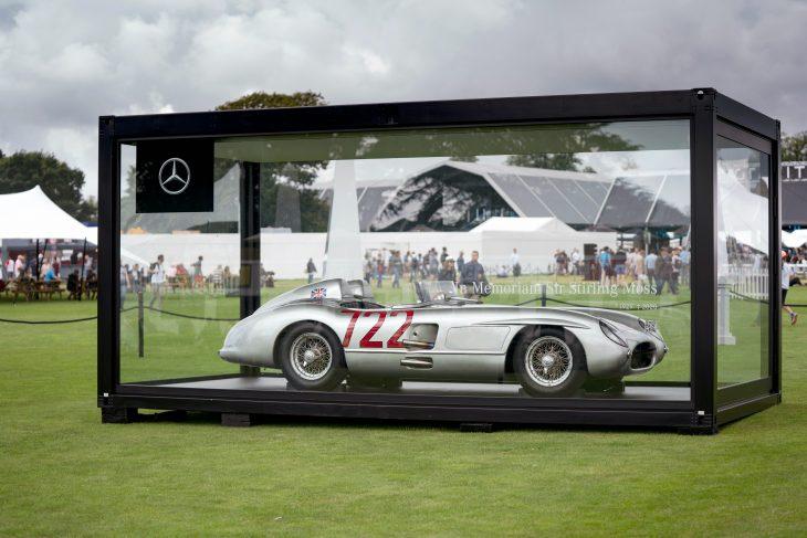 Mercedes SLR 300 no GP da Inglaterra